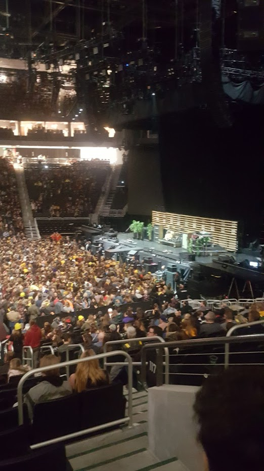 View from upgraded seat (not zoomed)
