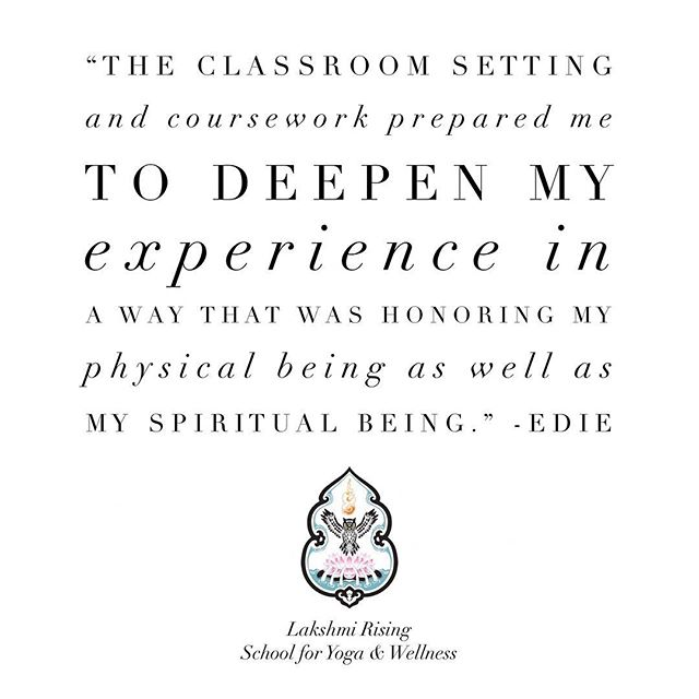 Something surprising to many of our students is the concept that yoga is much more than a physical practice. The Lakshmi Rising approach integrates body, mind and spirit for a full spectrum experience both on and off the mat. 🧘🏽‍♀️🔥❤️ #higherconsciousness #meditation #yogateachertraining #wellness #bodymindspirit #vinyasa #igyoga #yogatransformation #mindbodysoul #spirituality
