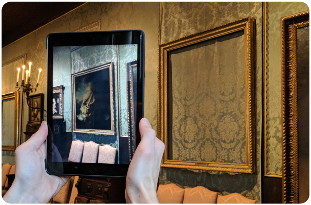 "Rembrandt's ""Christ in the Storm on the Sea of Galilee"" displaying using Augmented Reality."