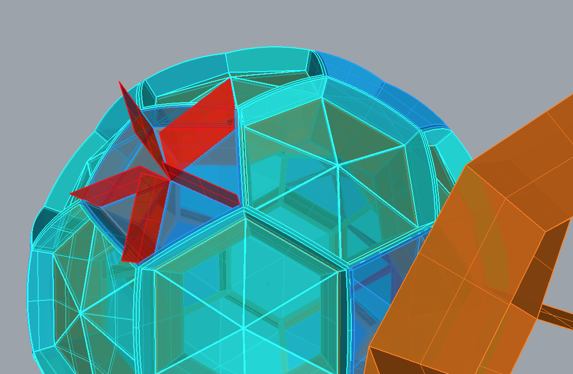 TZ'IJK.3.  CAD drawing of the truncated isocahedron.