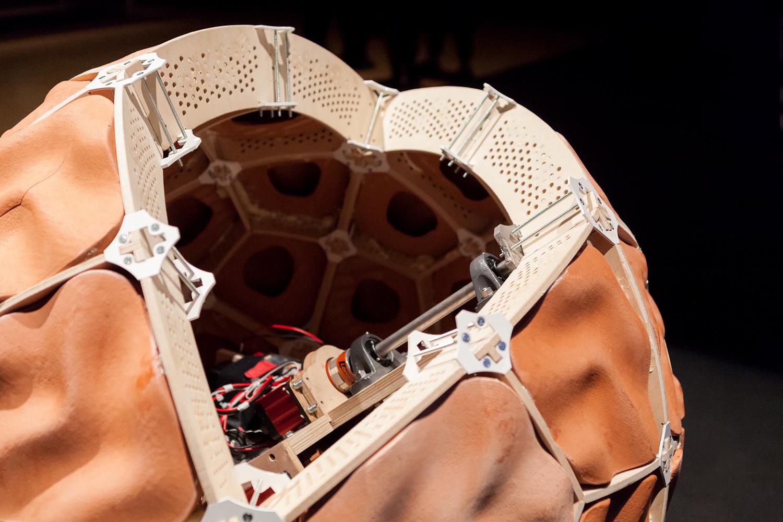TZ'IJK.2. Inside view of TerracotaBot assembled.