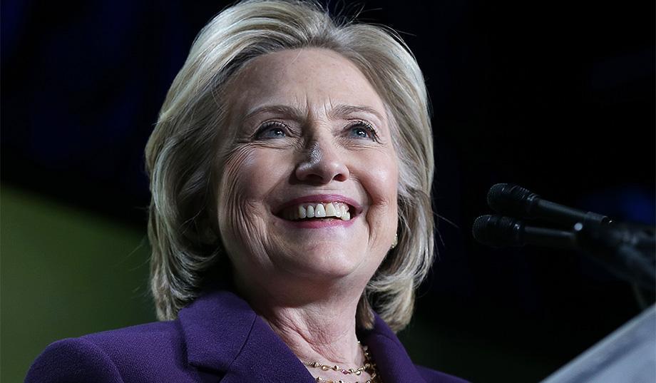 Hillary Clinton in 2016