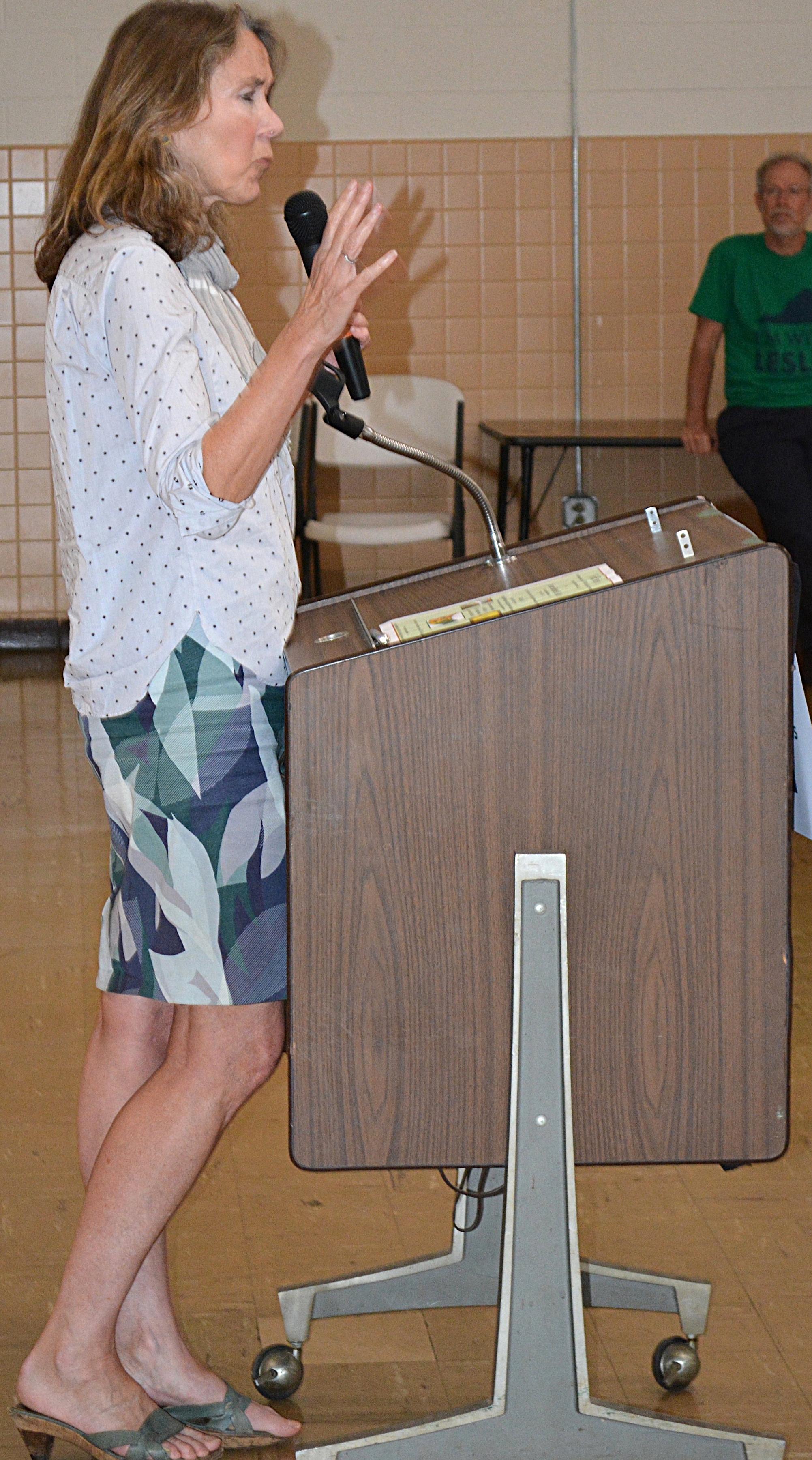 Leslie Cockburn  at the Nelson Heritage Center on September 23.