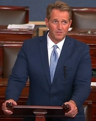 """I'm aware that there's a segment of my party that believes that anything short of complete and unquestioning loyalty to a president who belongs to my party is unacceptable and suspect.""  -U.S. Senator Jeff Flake (Republican of Arizona) on the Senate floor, October 2017"