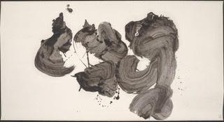 Katsu (Shout)  by Inoue Yuichi. Ink painting. Photo courtesy of the Portland Art Museum.