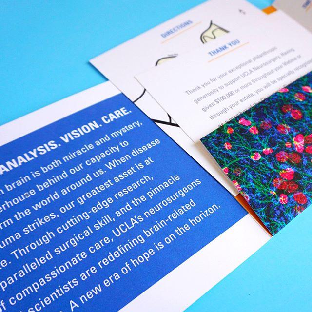 UCLA Neurosurgery Invitation by ETCHCreative  #ucla #uclaneurosurgery #universityofcalifornia #losangelesgraphicdesigner #losangeles #academicdesign #development #layout #invitationdesign #fundraising #fundraisingdesign #marketing #creativemarketing