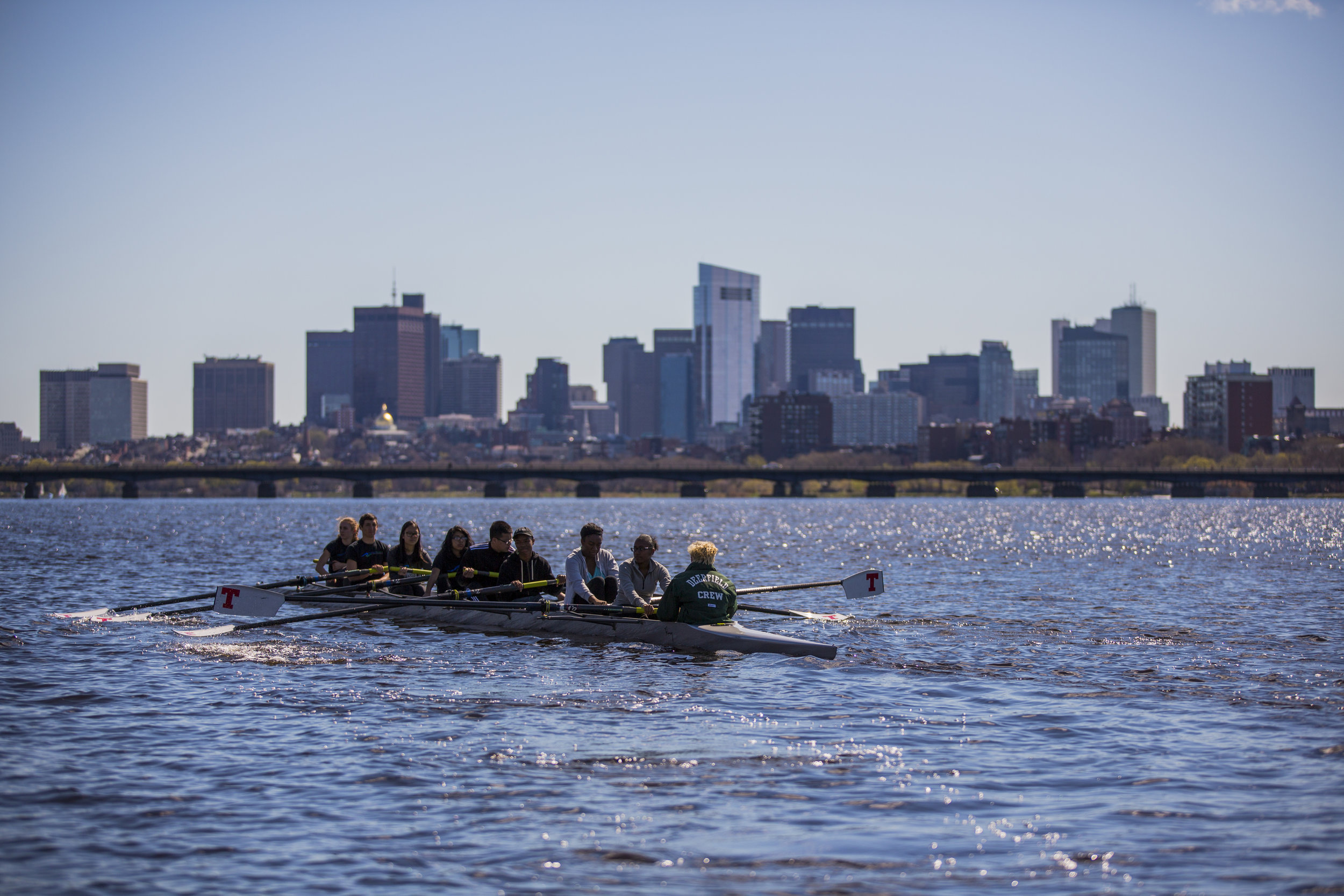 We row.