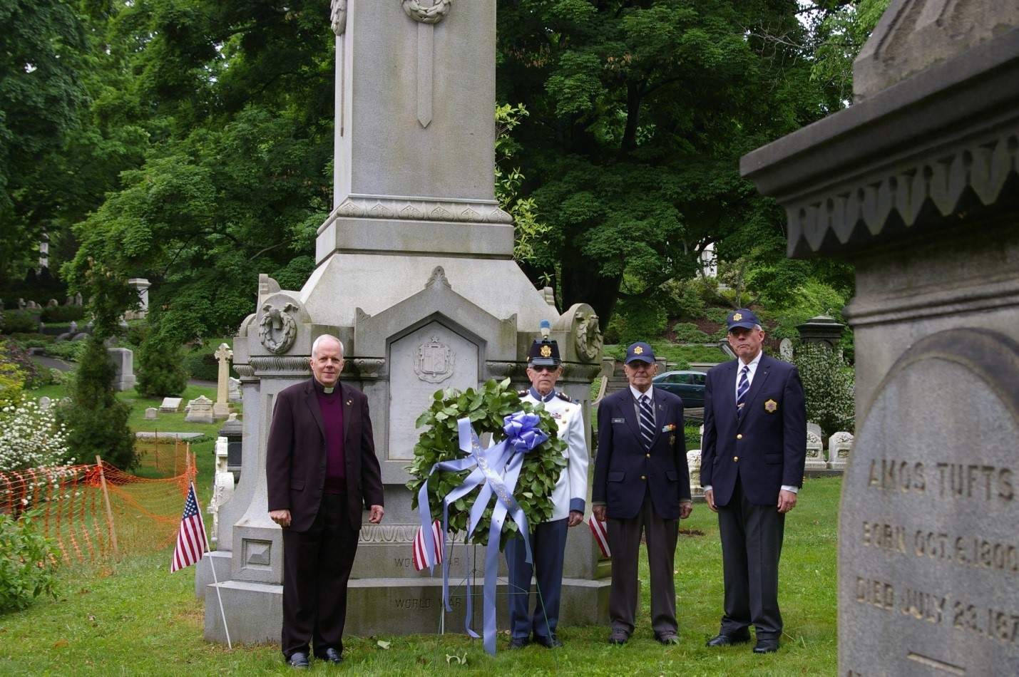 Chief Stedman, dressed in historic FCC dress uniform, assisted VAFCC senior member, Leonard Wolf, in laying the wreath.