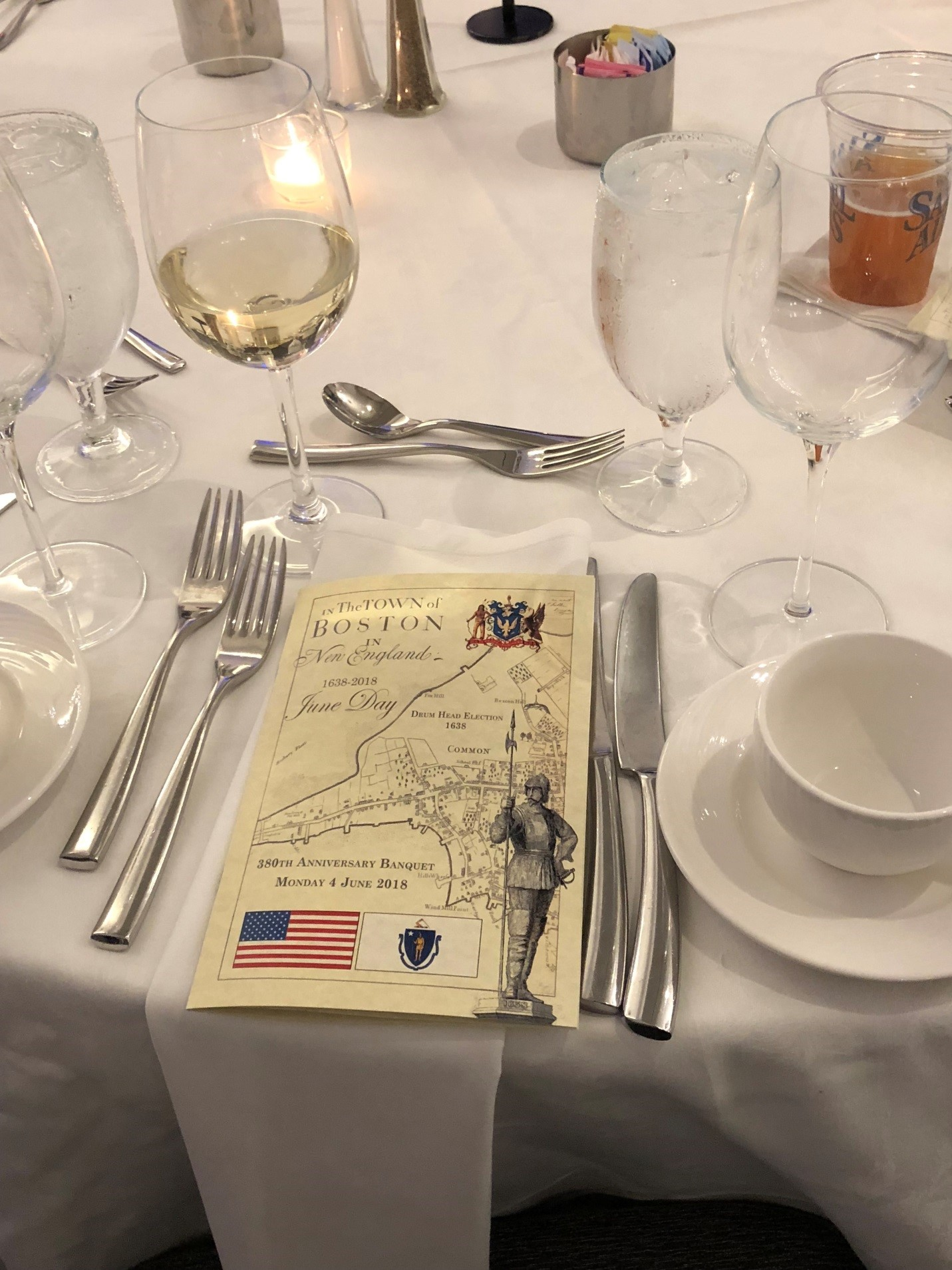 Formal Table Setting With Celebratory Brochure
