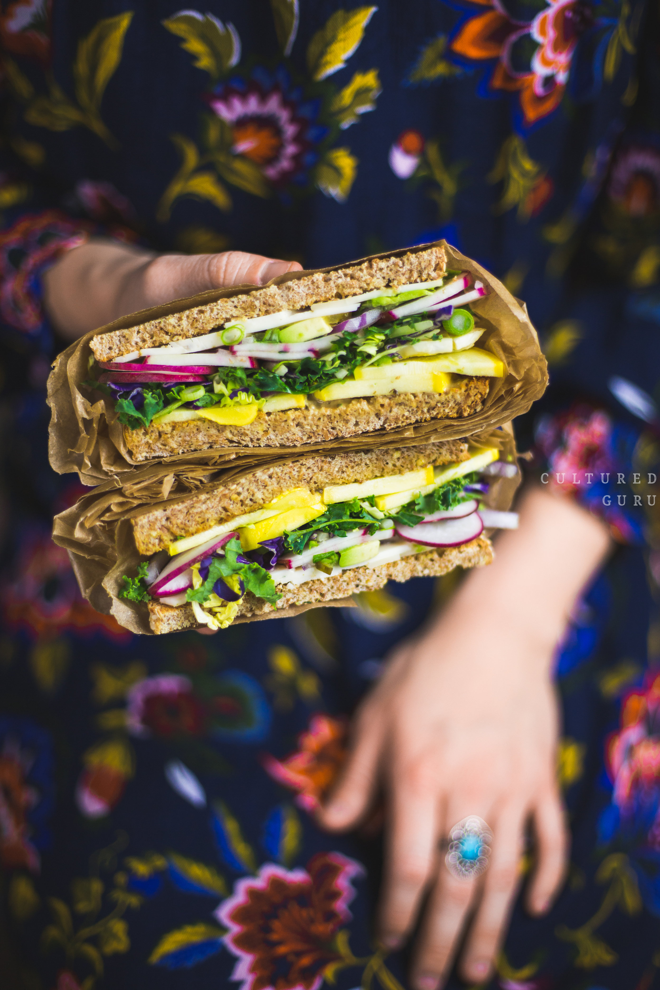 Vegan Sandwich Recipe | Vegetable Sandwich with Probiotic Fermented Dill Pickles