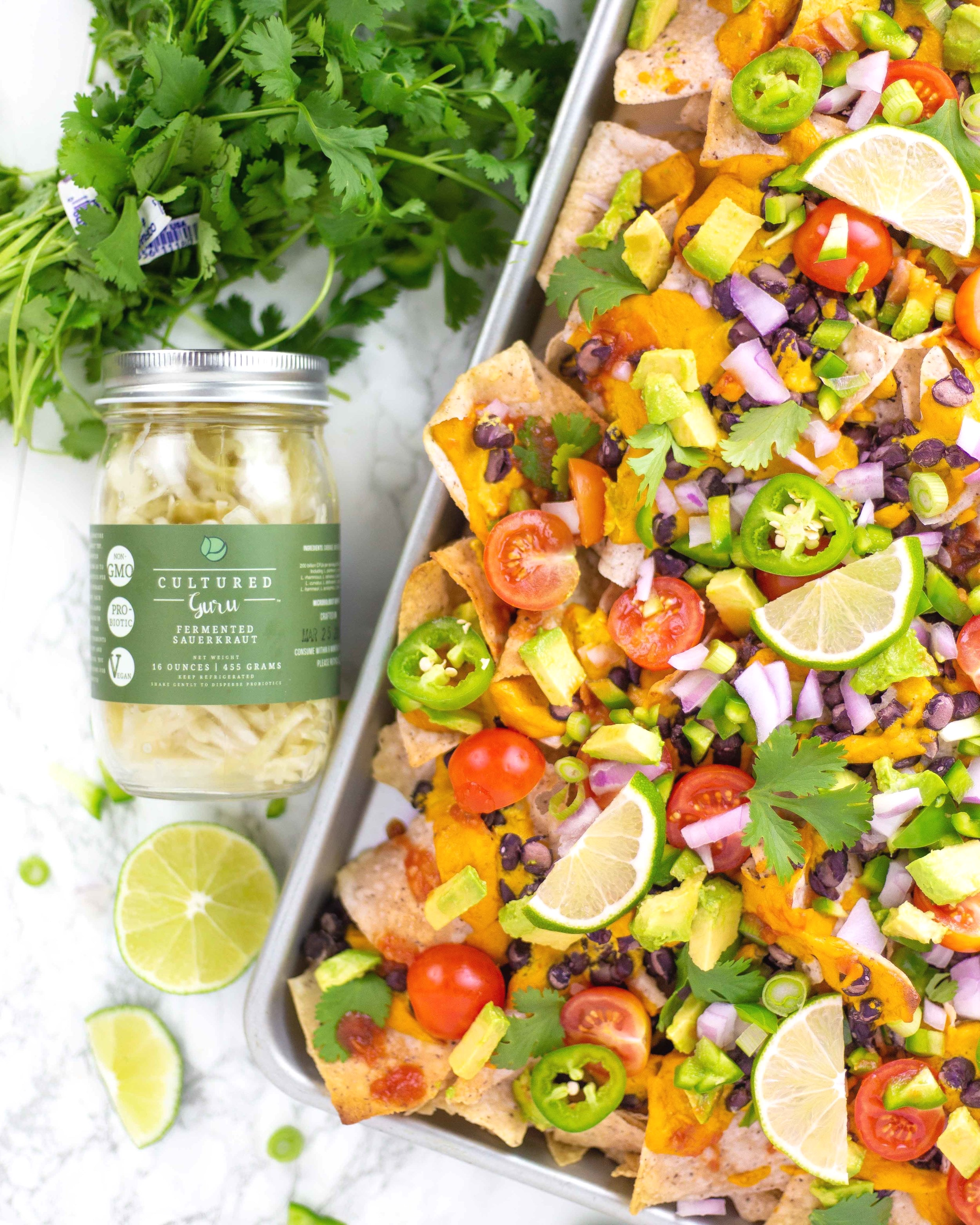 15 ways to use fermented vegetable brine | vegan nachos