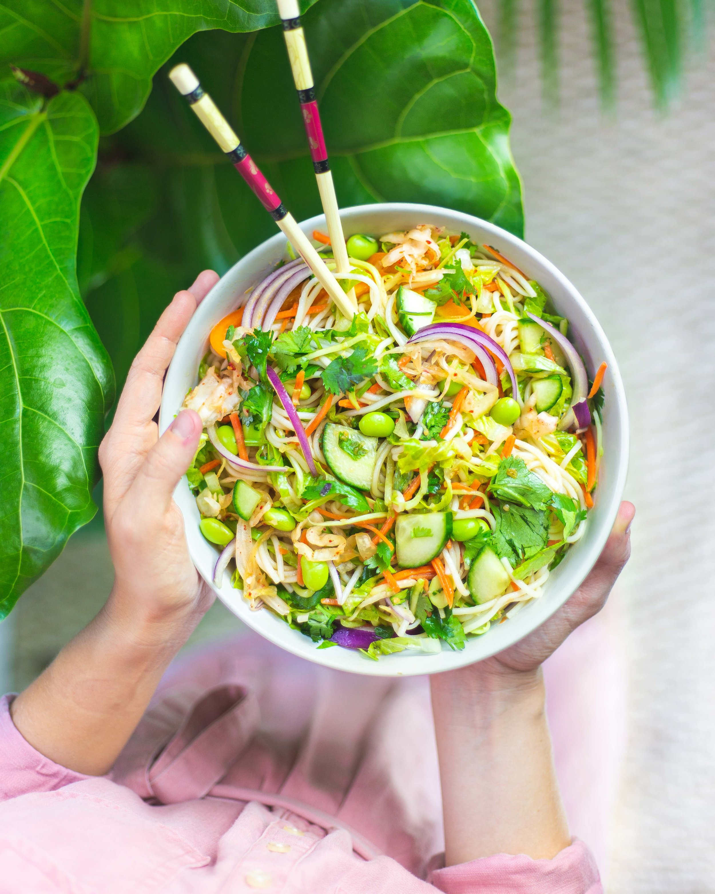 Noodle Salad with Fermented Kimchi