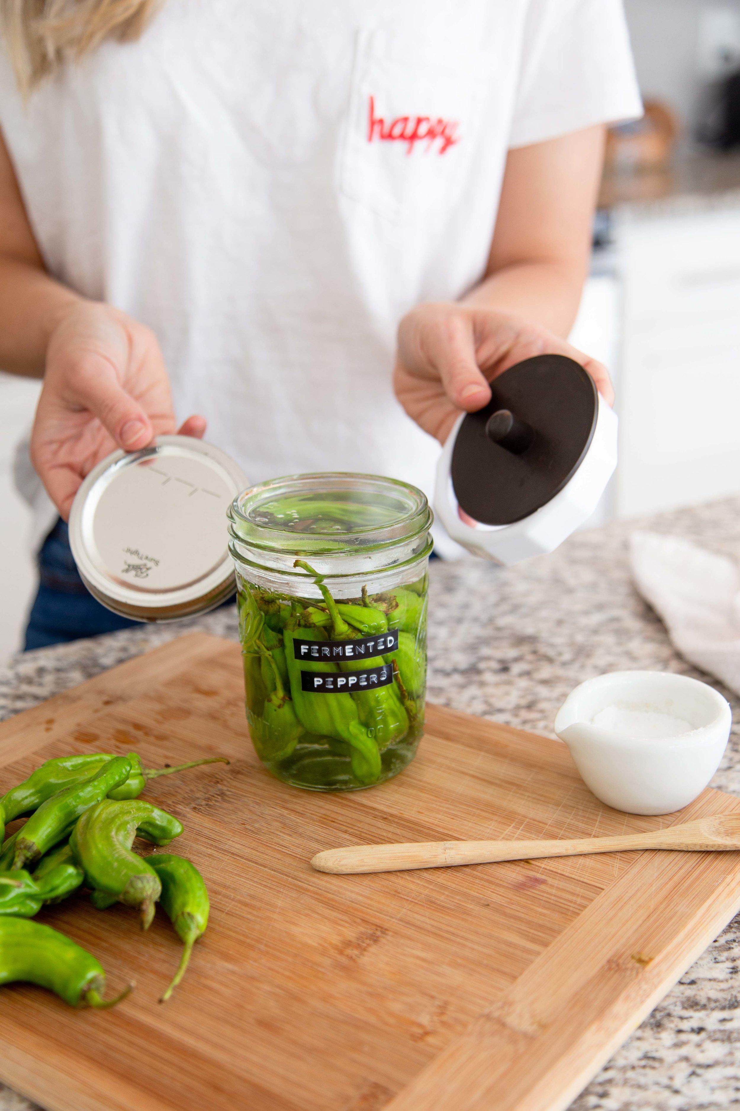Fermenting Shoshito Peppers