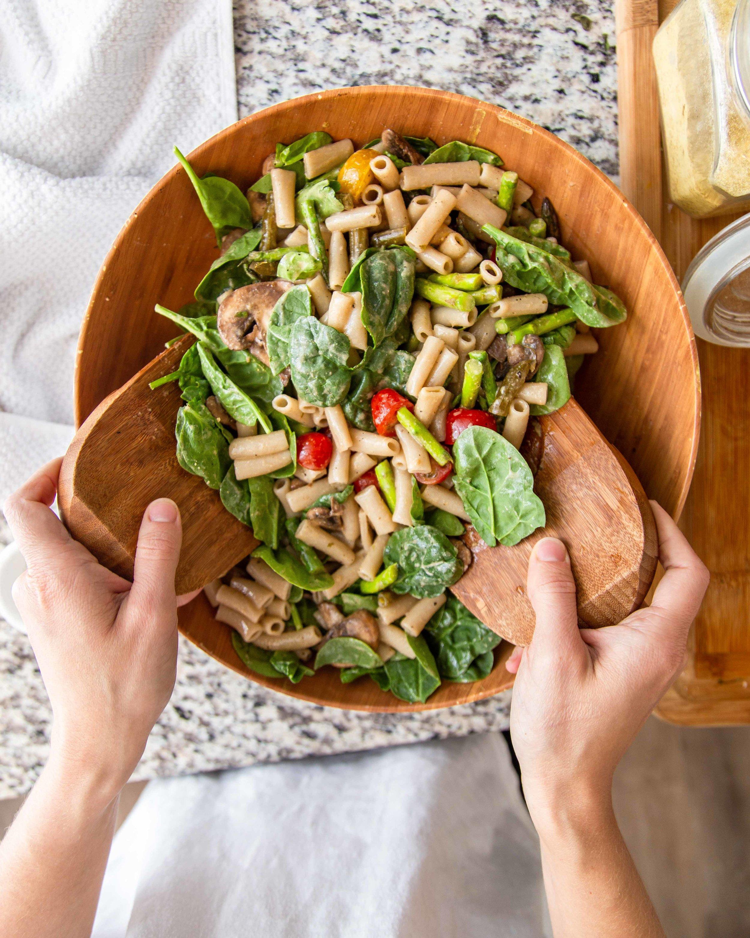 Creamy Goddess Dressing Pasta Salad Recipe