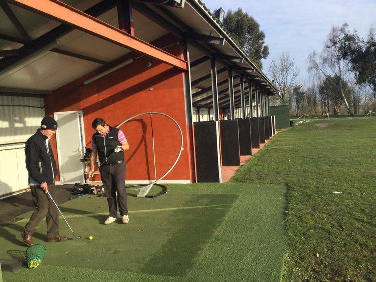 Covered Coaching Bay at Dudsbury Golf Club
