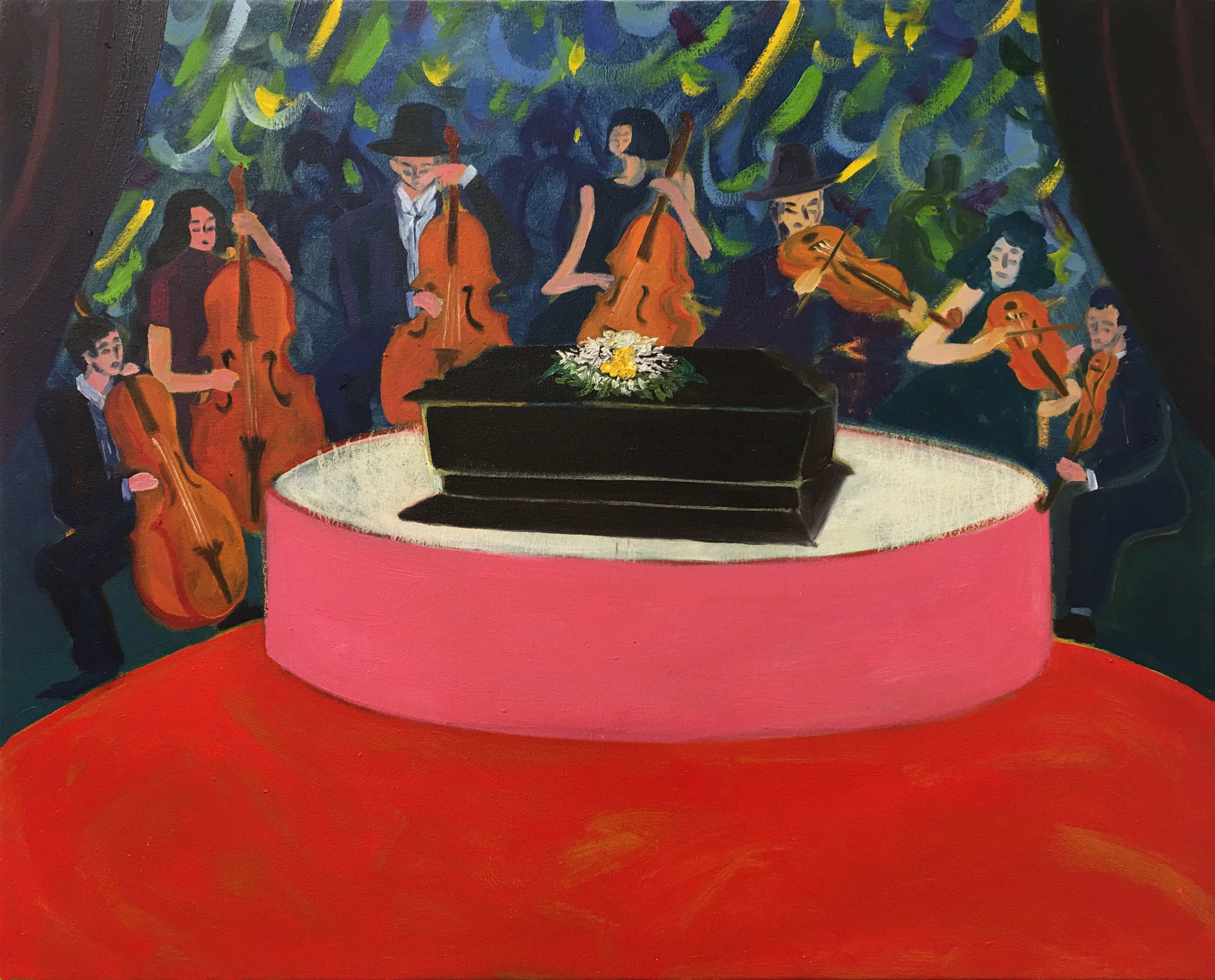 Orchestra funeral, 2018  Oil on canvas