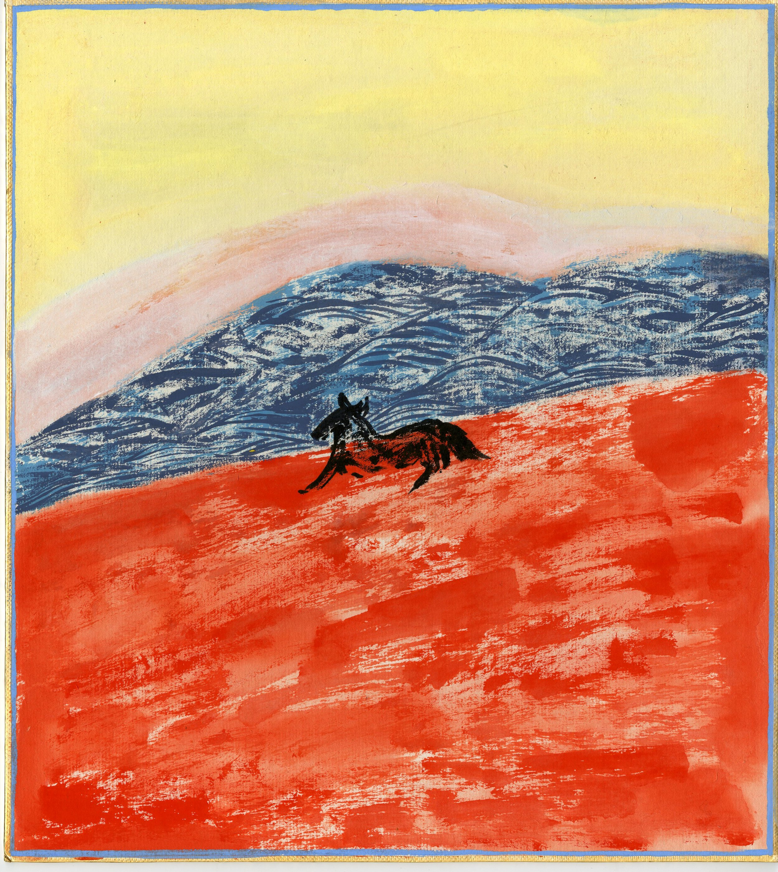 A Black Horse  , 2017  Gouache on board