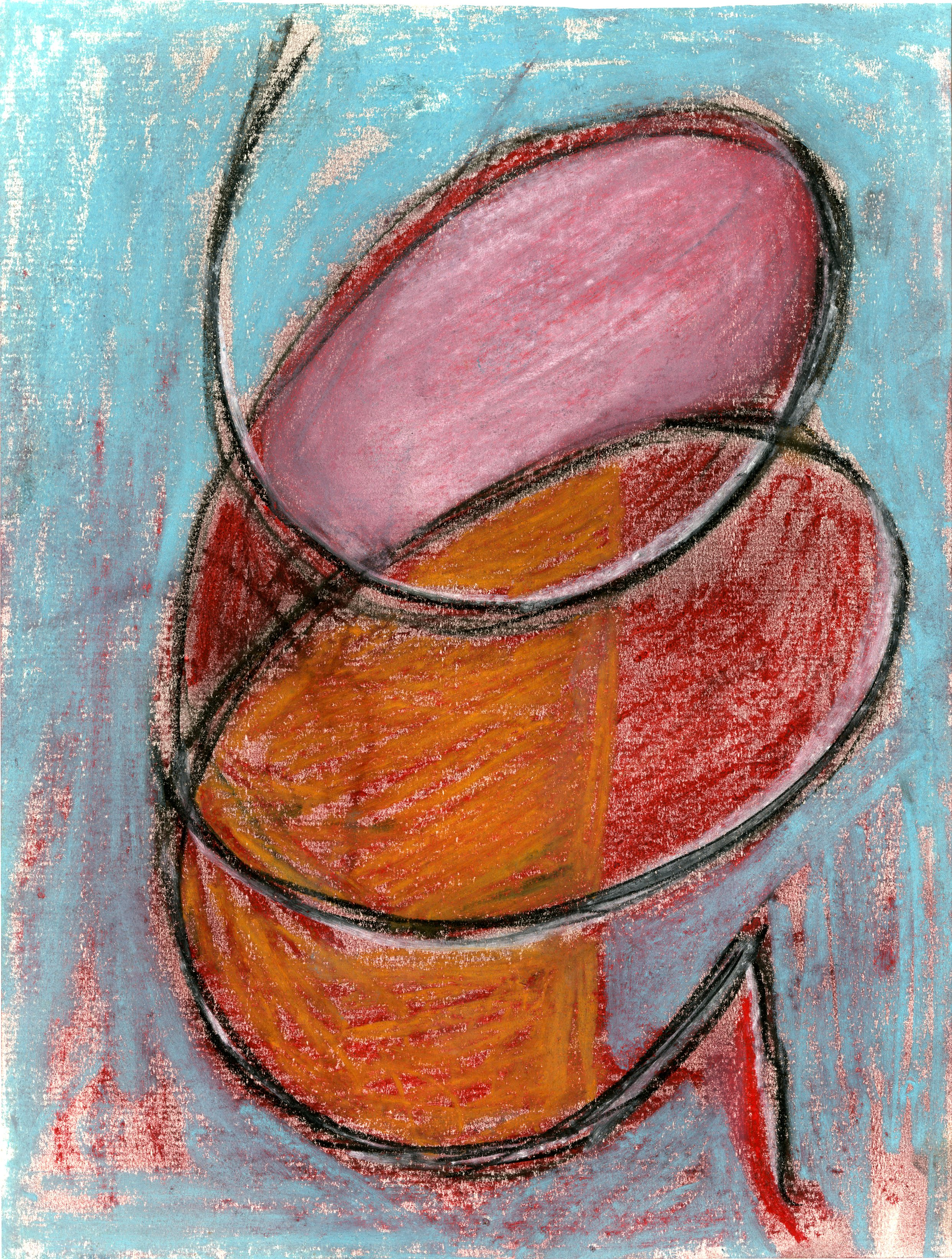 Wire I, 2018 - Soft pastel on paper