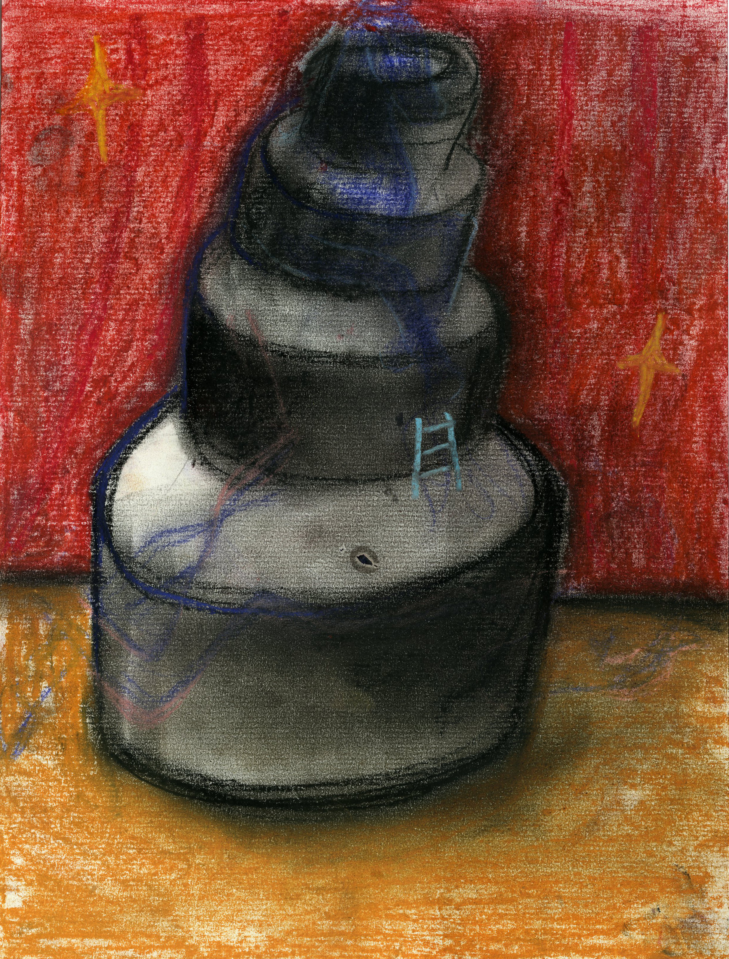 Perfect Stage for you II, 2018 - Soft pastel and charcoal on paper