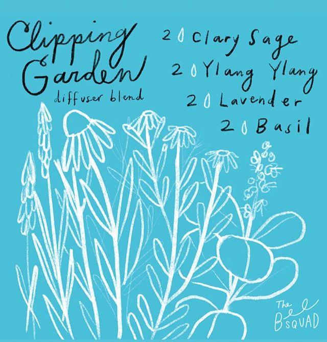 Keep it fresh, y'all.  2 drops Clary Sage 2 drops Ylang Ylang 2 drops Lavender 1 drops basil 🍀🌿🌸🌷