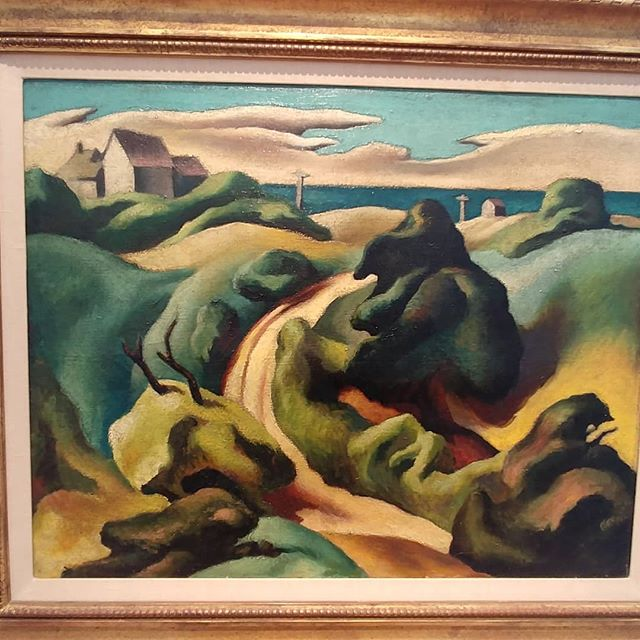 So glad I got to see Thomas Hart Benton's transcendent paintings at the #mvmuseum  He's been my favorite painter since I was old enough to know what paintings are, and seeing these up close was like being in church.  Beautiful, flowing, and guess what? There's cat hair and sand stuck in the paint. You can see pencil lines.  They are imperfect, human.  Real.  Wonderful.