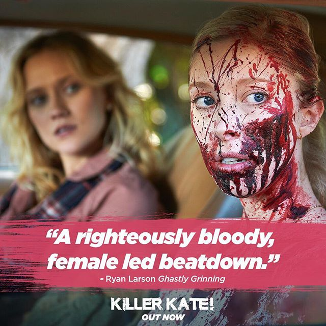 The word is out: Killer Kate is a righteously good time at the movies! Thanks to @GhastlyGrinning for the kind words!  Check it out on @iTunes now (Link in bio)