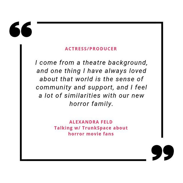 @alexandrafeld sat down w/@trunkspacemag to discuss her first film as producer and star, horror fandom, and how her family helped to make Killer Kate! a reality. . . OpenTheTrunk.com/Alexandra-Feld . . #killerkate #horrormovies #horrorcomedy #horror #genrefilm #genremovies #alexandrafeld #feldfilms #filmmaker #actress #producer #debutfeature #actressquotes #horrorfan
