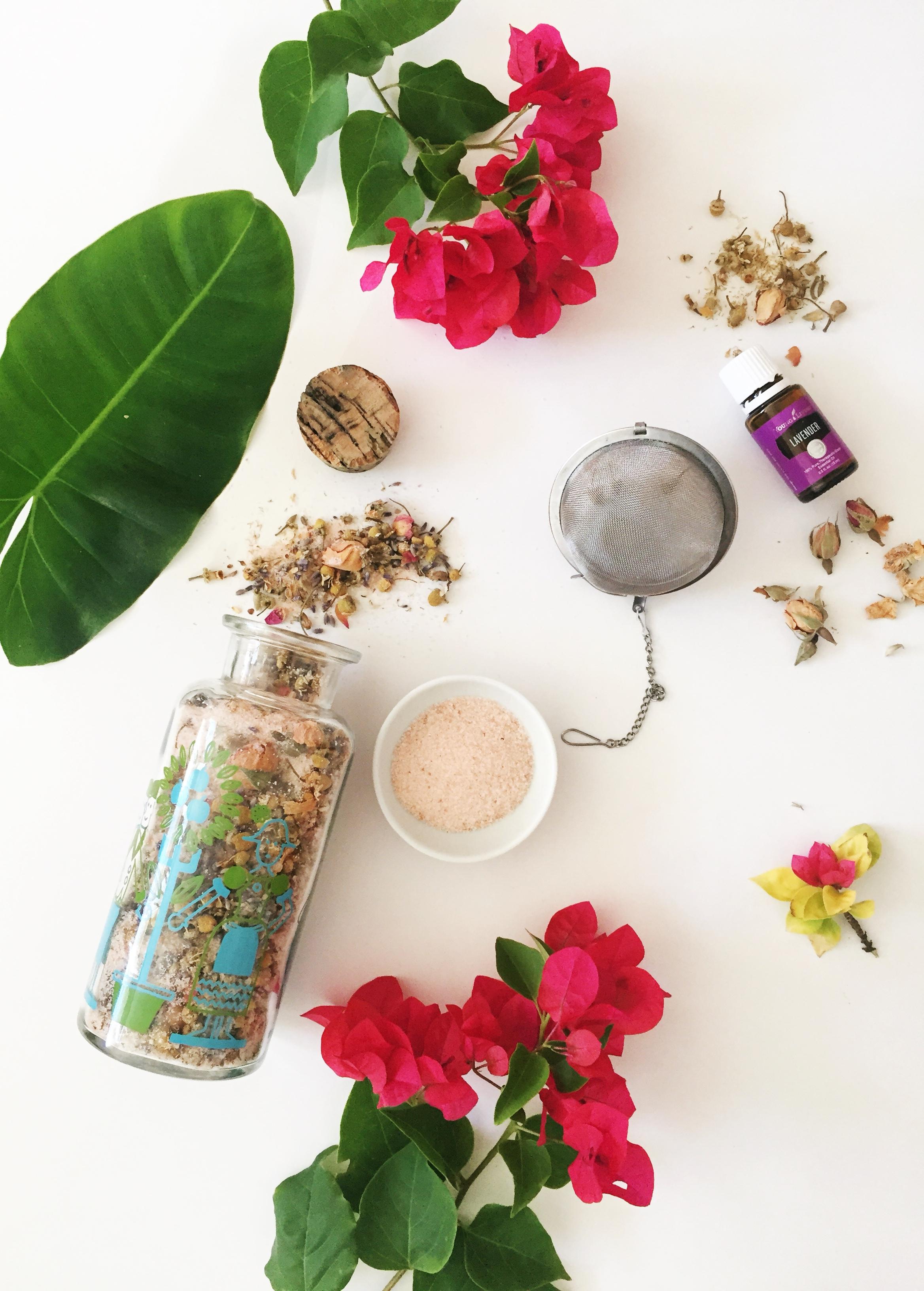 Lavender Chamomile & Rose Salt Soak -