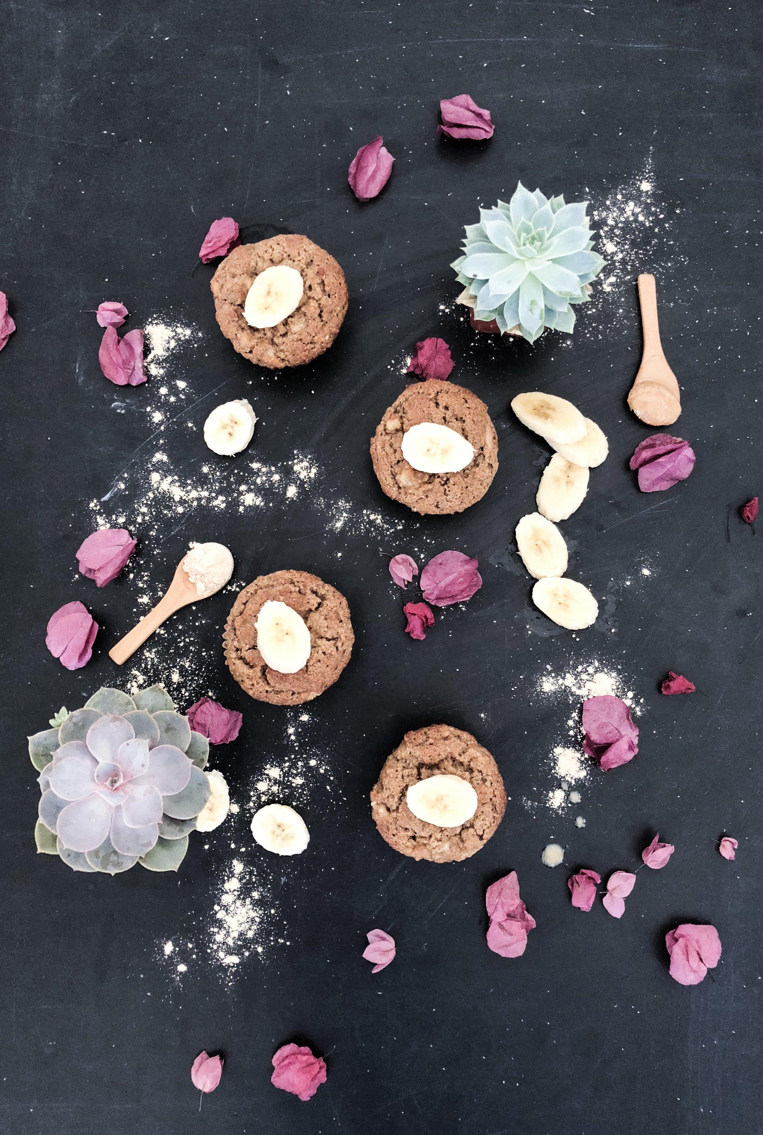 maca banana nut butter muffins