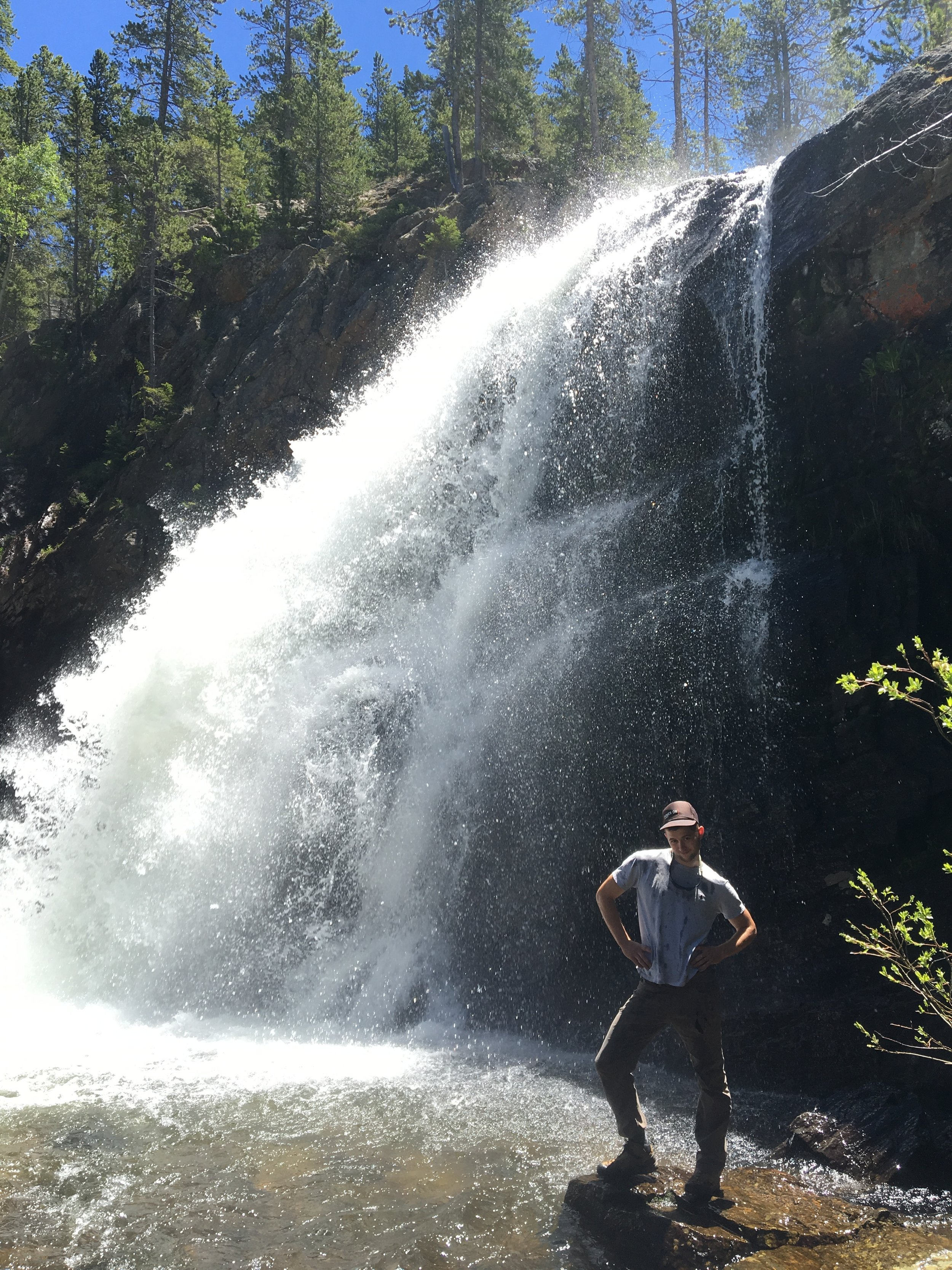Lots o waterfalls for Brent to pose with.