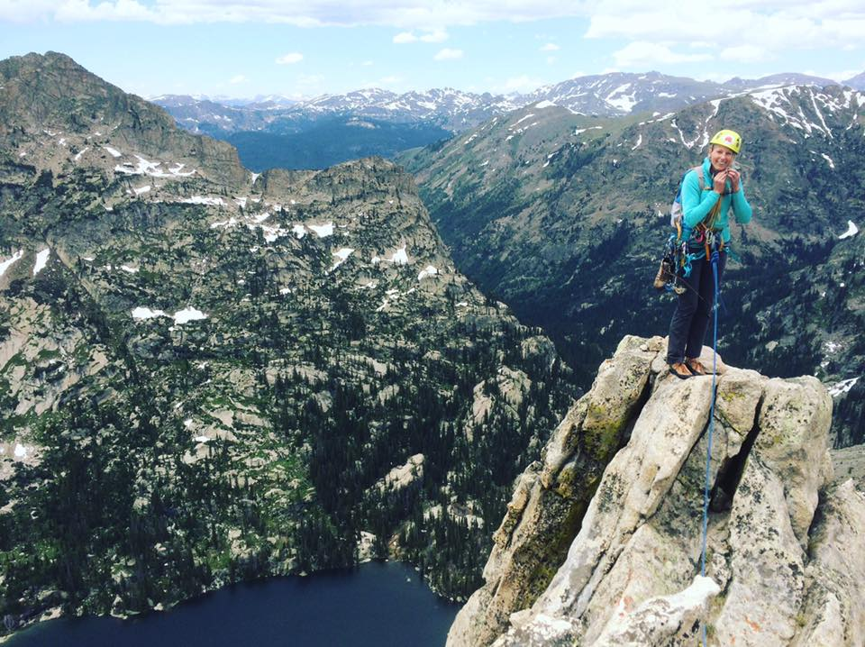 On the tiny tiny summit!
