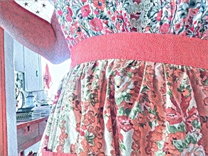 Nana T.'s apron and my Garden Nightgown