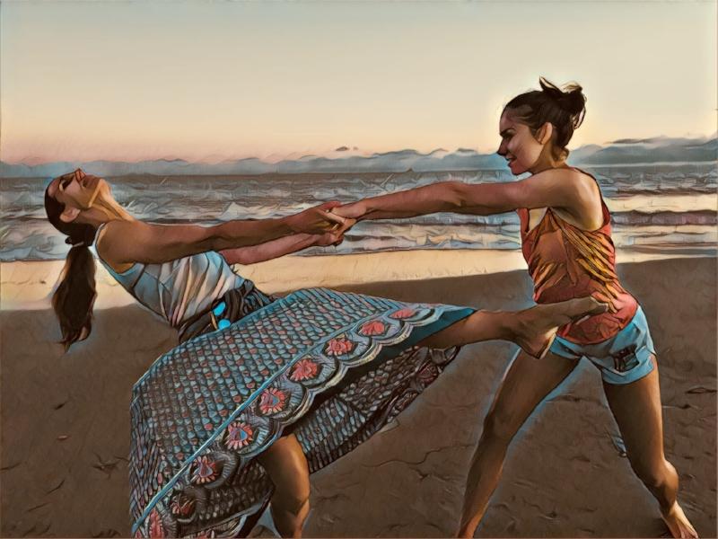 A Moment From THis summer's Beach Dance class