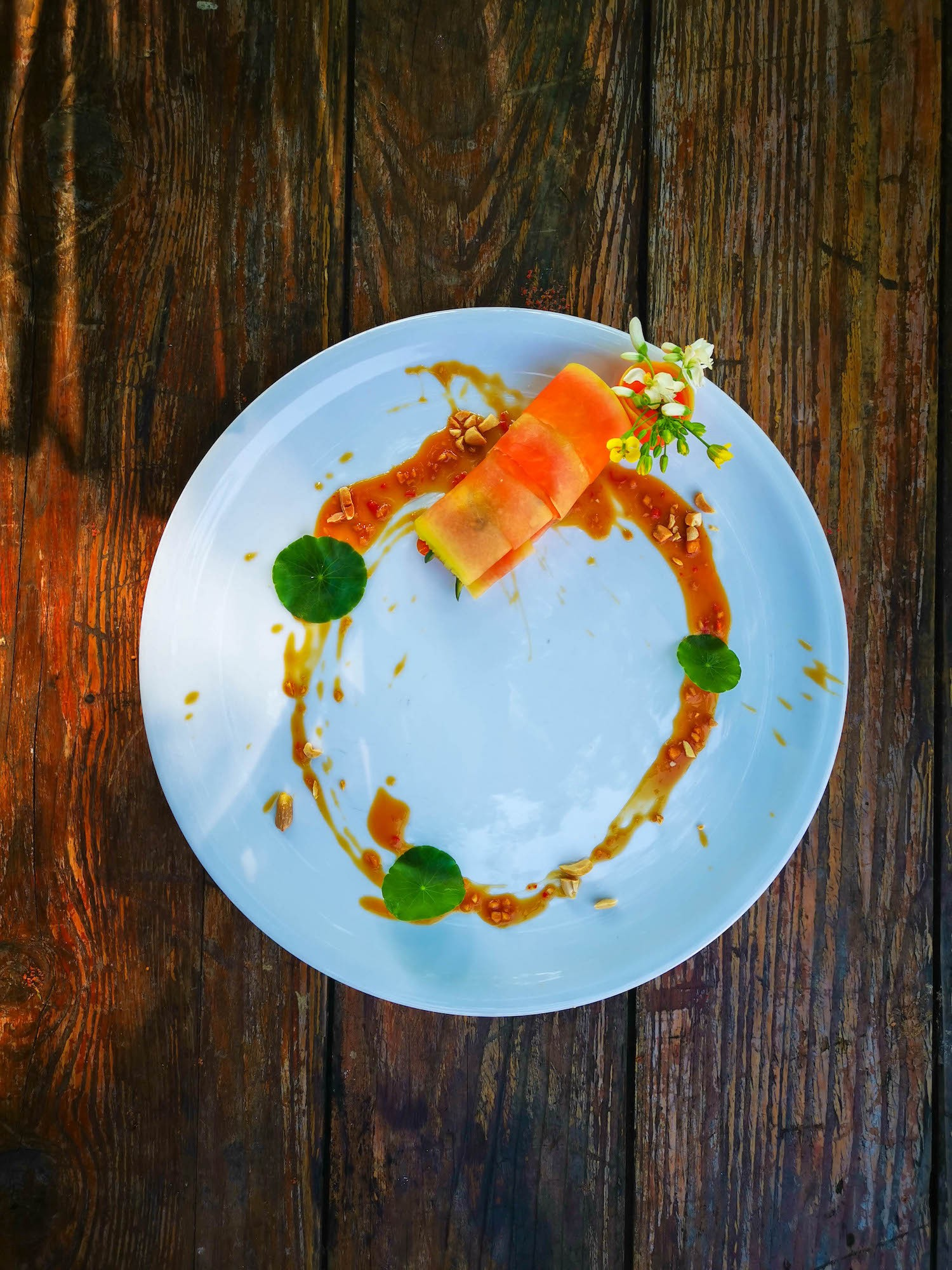 Som Tam — Green Papaya Salad — Chef's Training — Blue Lotus Hua Hin