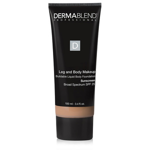Dermablend Leg and Body Makeup is available in a variety of beautiful color-matching shades and is very effective at covering bruises and more. It comes infused with SPF 20 to protect from the sun's harmful rays. Cover up those bruises, blemishes and scars with this lightweight liquid. It provides up to 16 hours of coverage and should leave skin feeling softer, smoother and definitely concealed.   Try: Dermablend Leg and Body Makeup
