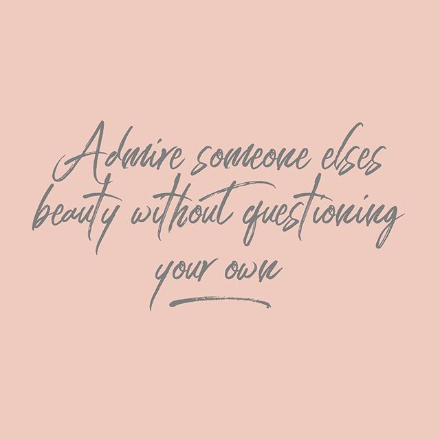 Yasss girl 💁🏻‍♀️ We are all beautiful in our own kind of way!✨