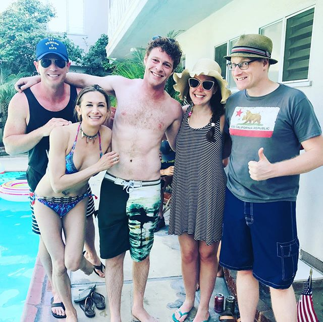 A most Star-Spangled day indeed! 💥Reminded of how lucky I am to live and work alongside these incredible people who make everything worth while! ✨🎊🎆💃🏻🎞#fourthofjuly #thefourth #bbq #poolparty #partytime #celebrate #live #fireworks #familytime #holidayweekend #actorlife #friends #work #laughs #goodtimes #love #life #grateful