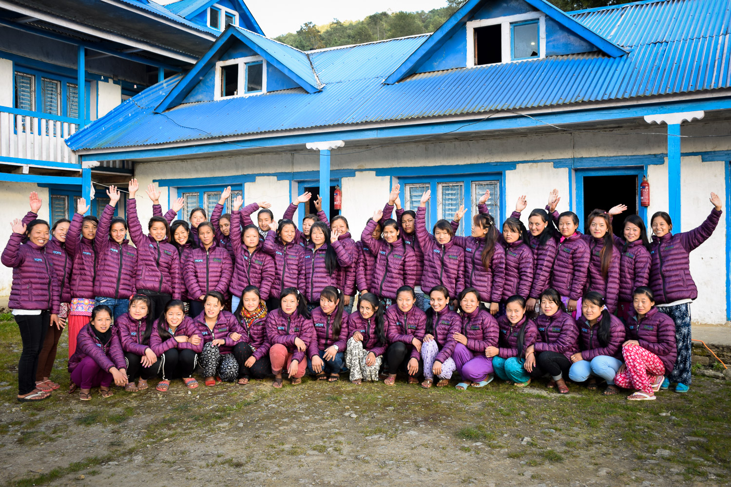 2017 Solukhumbu Girls Dorm group