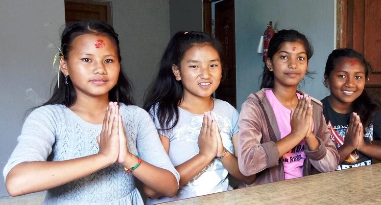 Namaste from Hope Girls, TSW girls education project