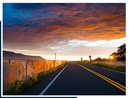 Sunset along a Road on Lummi Island   Lodging on Lummi Island