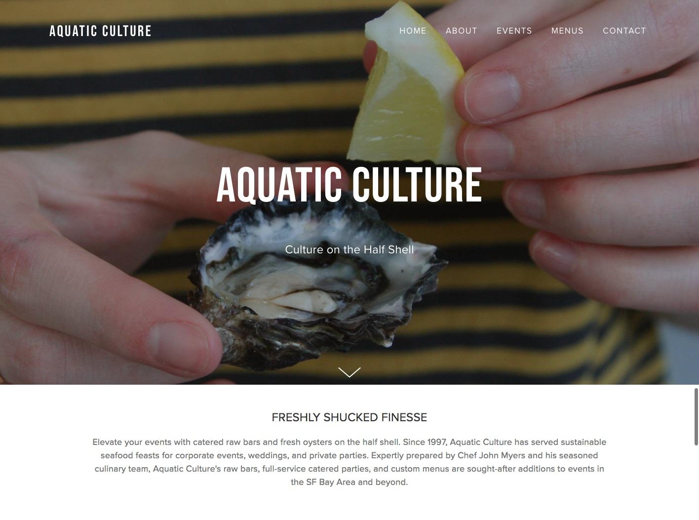 Aquatic Culture Events homepage