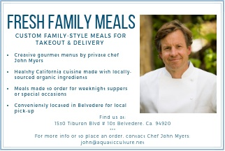 Fresh Family Meals  referral and communications postcard  included in meal delivery