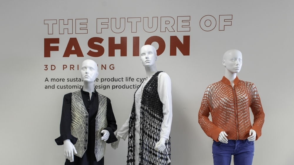 Future of Fashion Exhibit with 3D Printed Designs by Julia Korner, Sylvia Heisel, and Danit Peleg