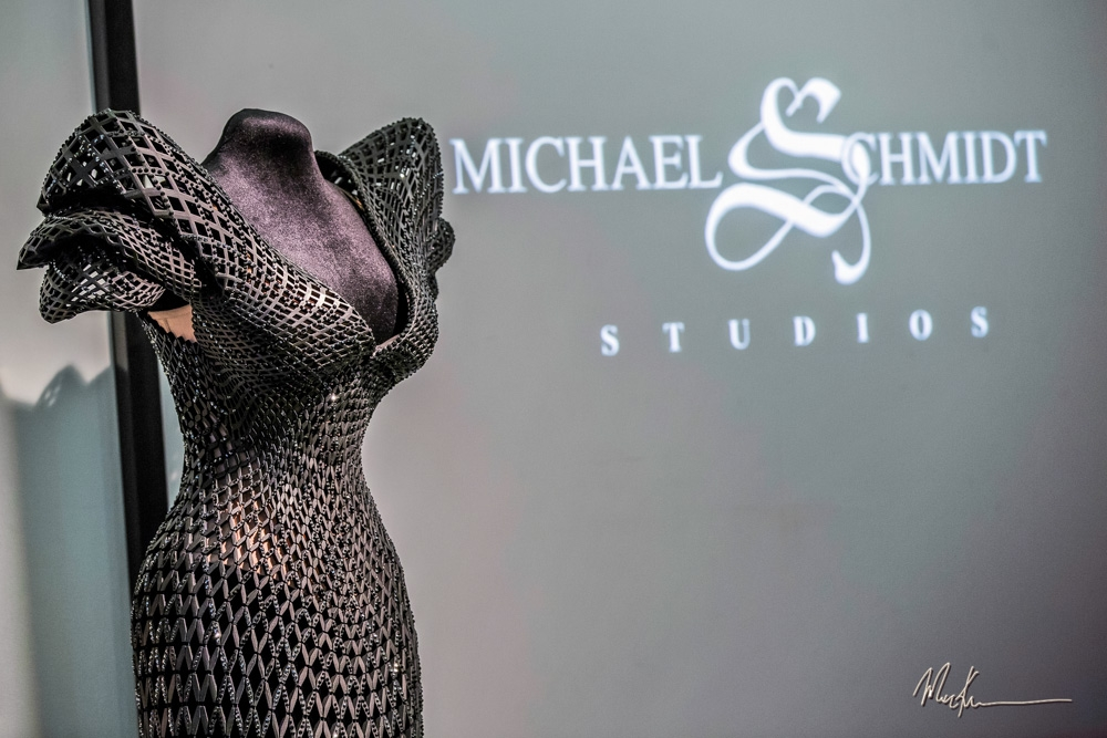 The World's First Fully Articulated 3D Printed Dress for Burlesque Icon Dita Von Teese, Created by Michael Schmidt Studios
