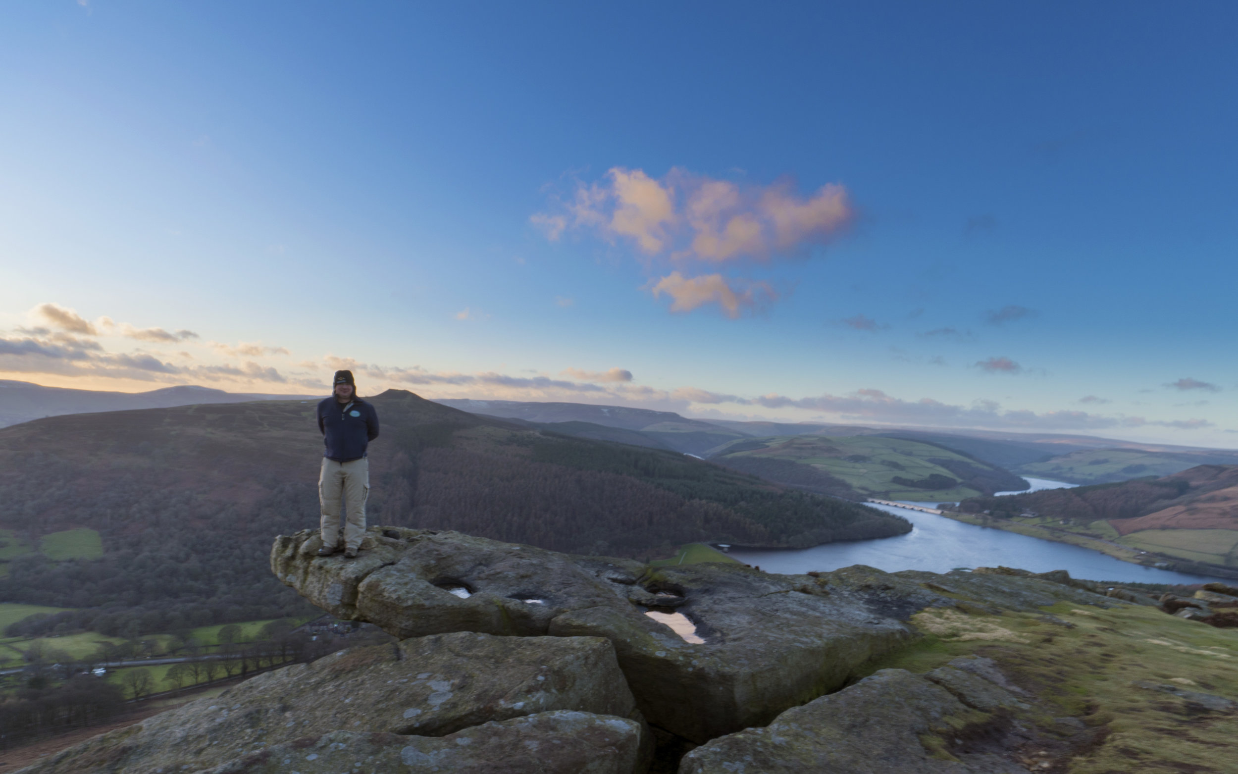Paul at Bamford Edge, Peak District National Park, United Kingdom