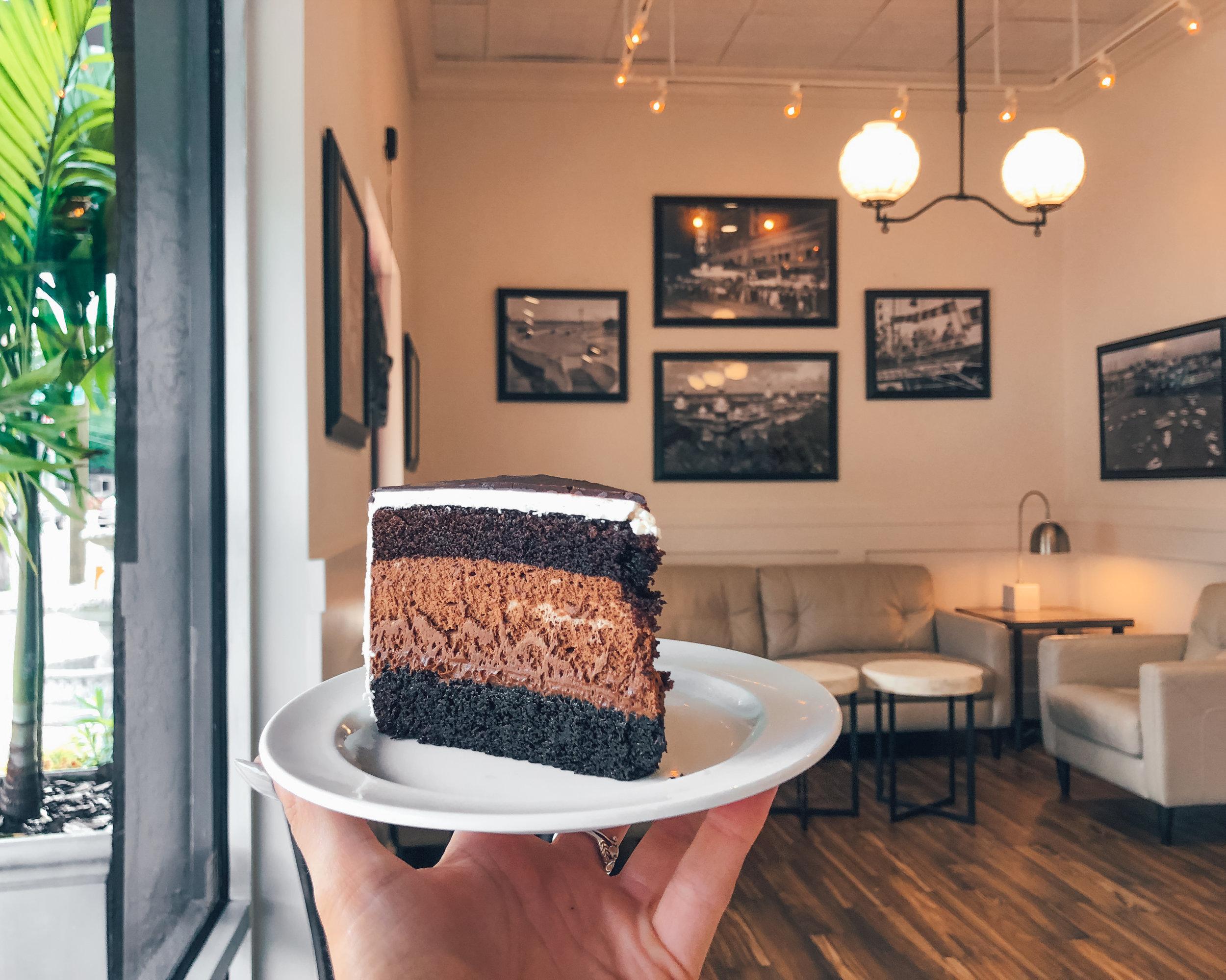 chocolate mousse dessert spot