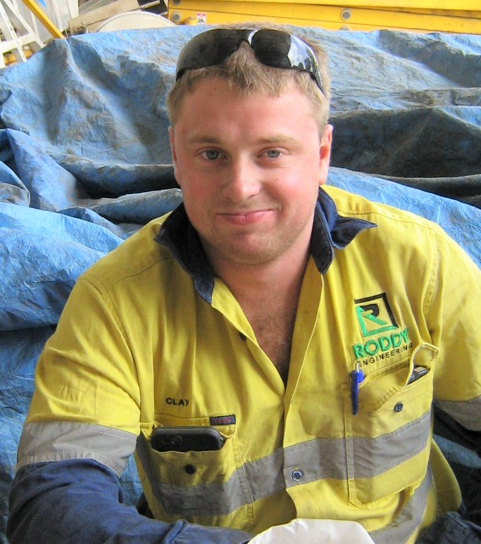 "CLAY MCKENZIE: - ""Being signed off early as a Tradie! It was a great feeling, all my hard work paid off!"""