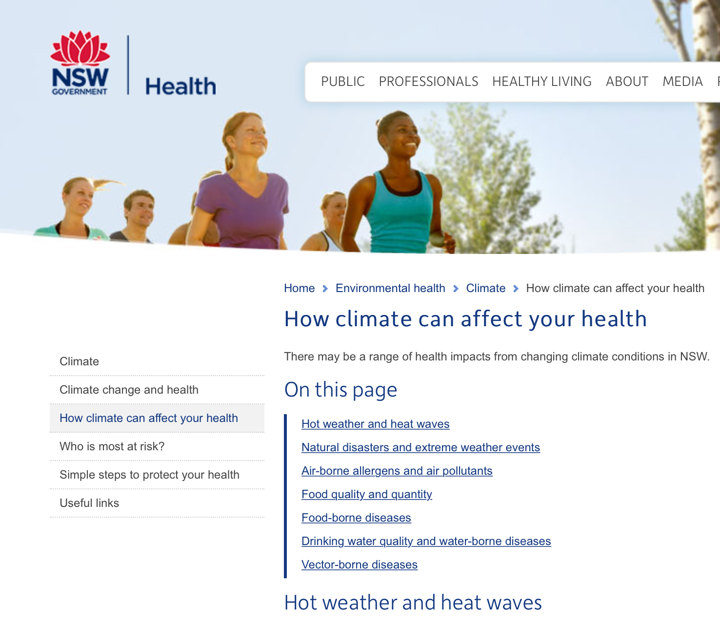 NSW Health and Climate