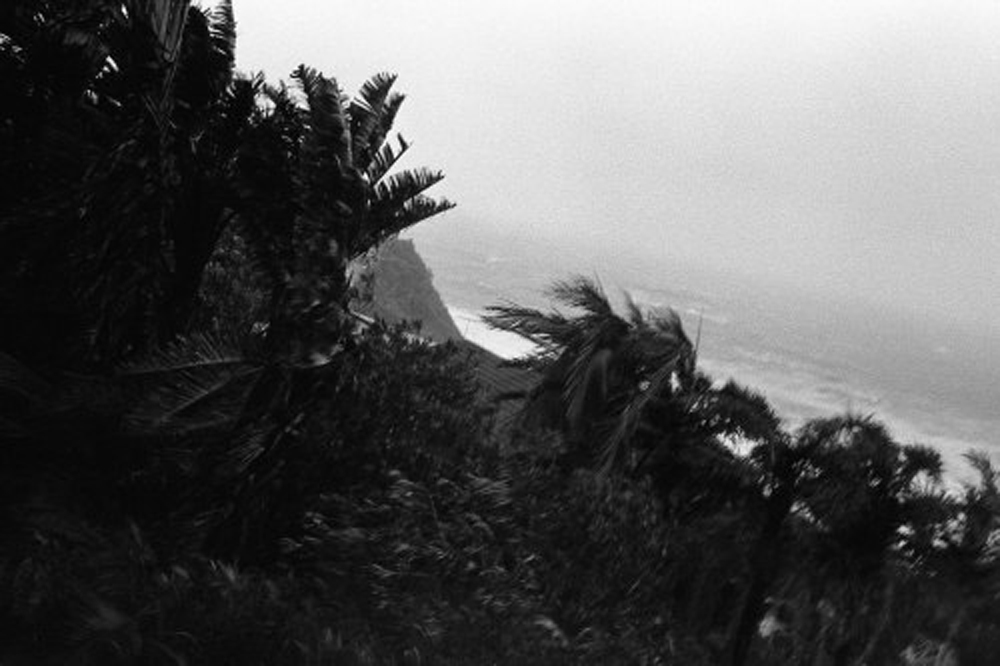 The view from our accommodation mid-storm / Photograph by Dominic King