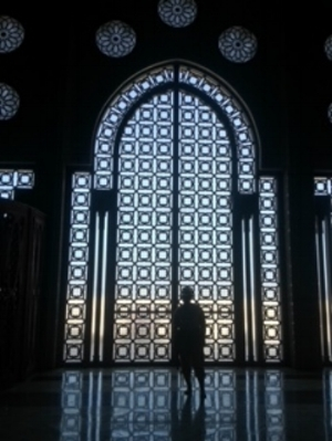 Taking it all in at the Hassan II Masque - Casablanca, Morocco